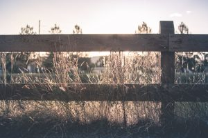 Wooden ranch fence in Orange County